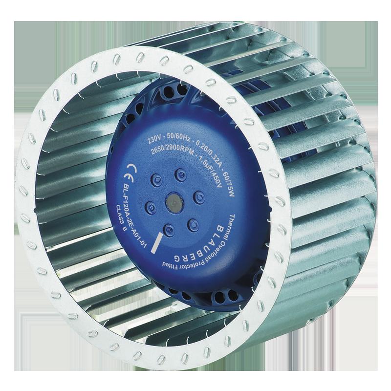 AC Radyal Fan (ileri eğik ø120 mm)